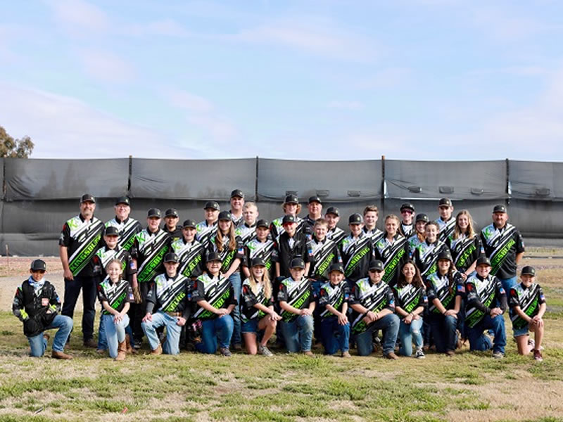 A large contingent of the Kingsburg Trap Club kids participated in the March 6 SCTP-ATA shoot at Kingsburg GC.