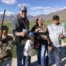Charlie Hall (second from left) plus daughter and son-in-law Natasha and Brenden Huber all broke their first 25 straights during Spanish Fork's April shoot, and Natasha turned hers into a 50. Natasha and Brenden's son Trace (left) also shoots, while brother Cashe cheers everyone on.