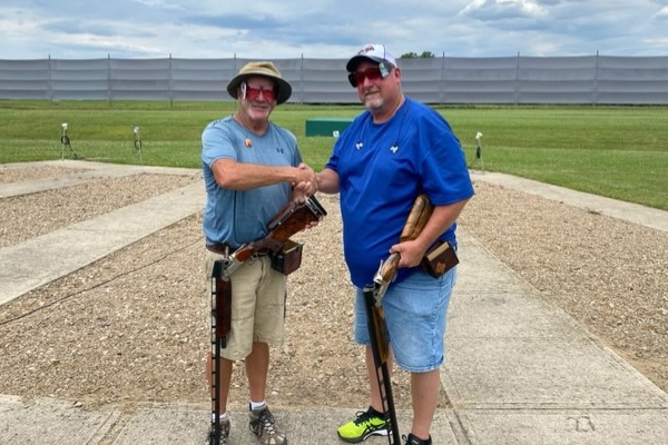 Bill Hagerty and ATA Delegate Mike Blair shot together at the Ohio State Shoot, where Hagerty fired at his 250,000th ATA bird.