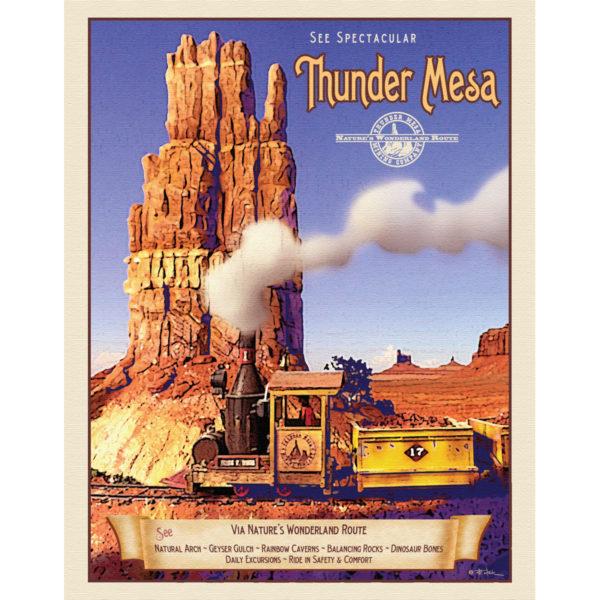 Thunder Mesa travel poster