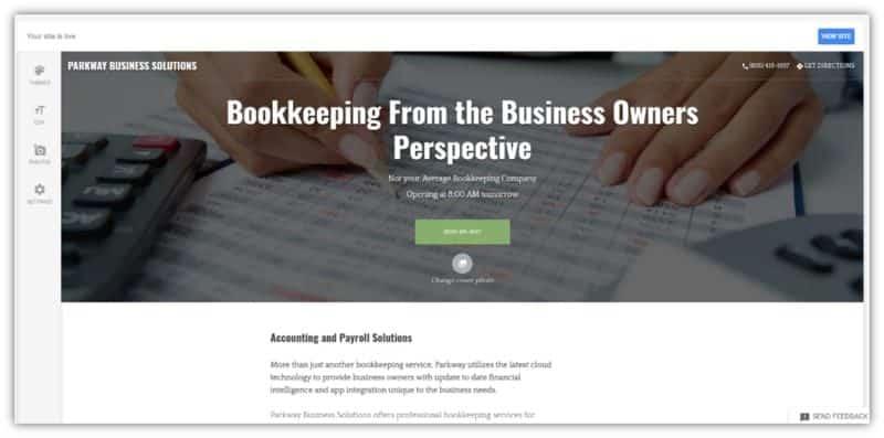 Googel My Business Website Builder