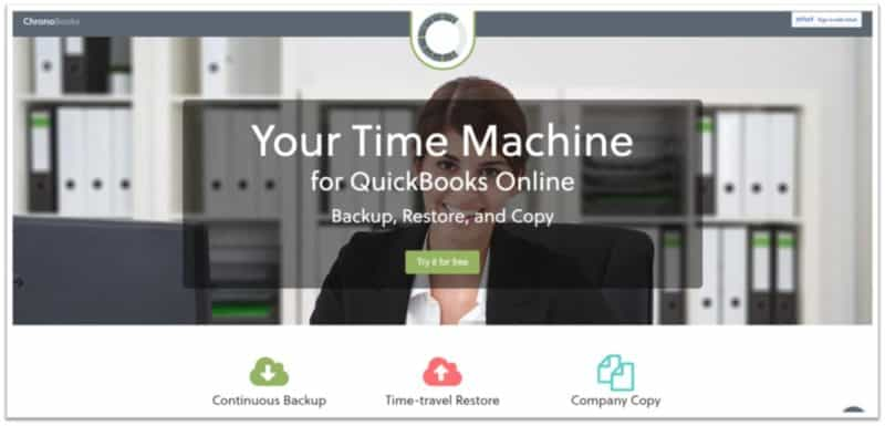 Picture of Chronobooks Hompage