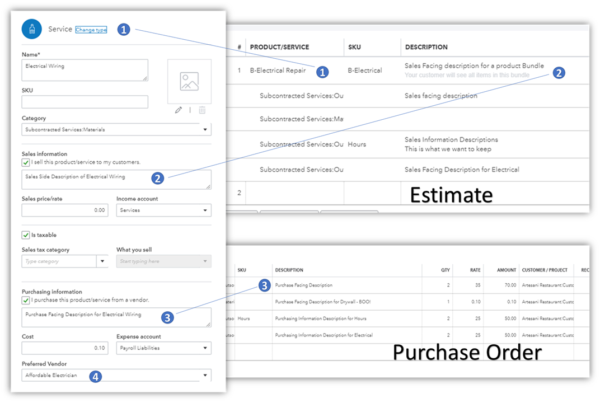 Using Projects with QuickBooks Online - Documents