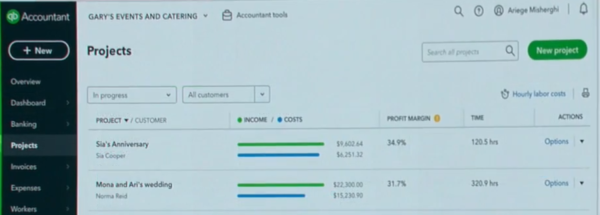 Using Projects in QuickBooks Online New Features