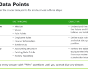 Discovering Data points process table