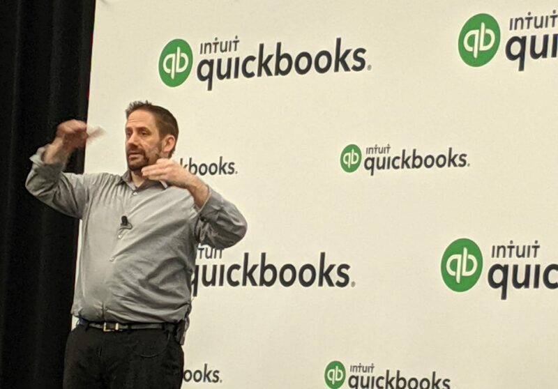 Matthew Fulton presenting at QuickBooks Connect 2019