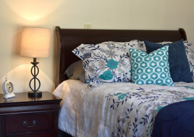 Comfortable bed and linens
