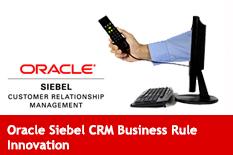 Oracle Siebel CRM Business Rule Innovation