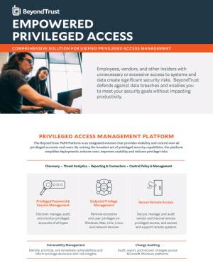 Empowered Privileged Access Datasheet