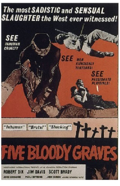 FIVE BLOODY GRAVES POSTER