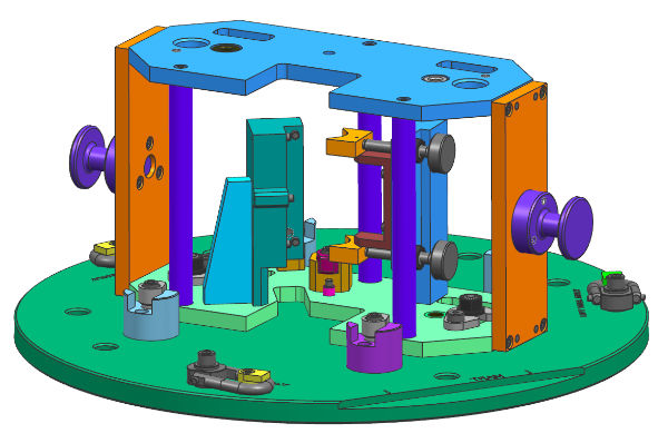 rendering of a machined assembly