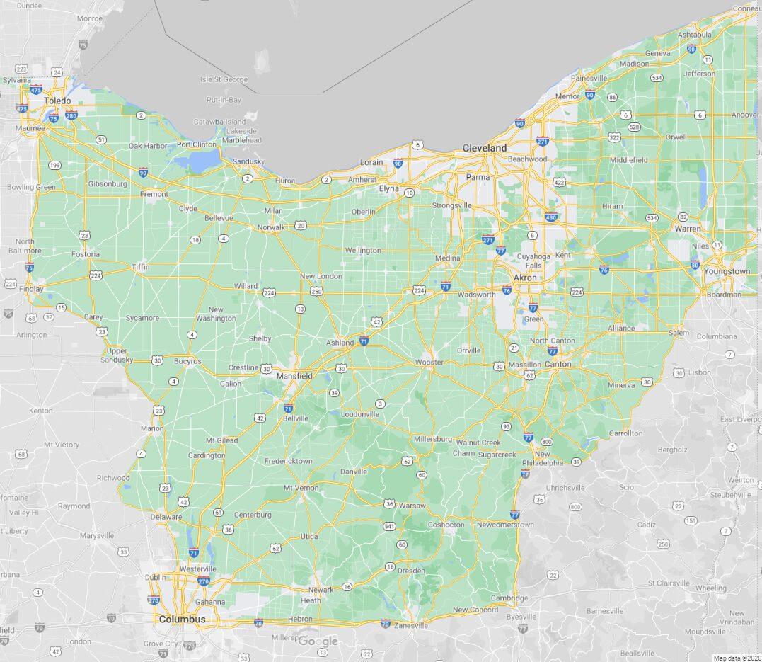 Roc's TNT Roadside Service Map