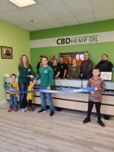 CBD Oil of Dayton ribbon cutting ceremony springbor chamber