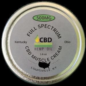 cbd oil of dayton muscle cream 500 mg front