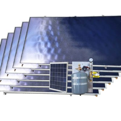 solar pool heater kit with six collectors
