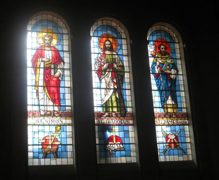 Thompson Glass Company stained glass repair at the Felician Sisters Dome