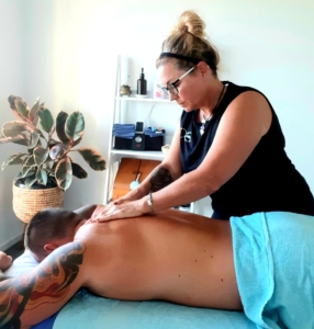 remedial massage in action