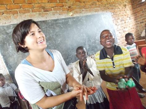 Volunteer teaching at Bupala Primary School (1)