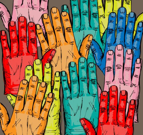 sketch-of-volunteer-group-raising-hands