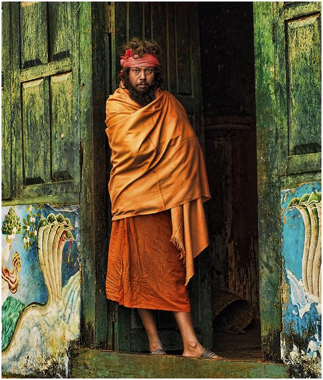 Judi Feinman - Man in Doorway - A IOM