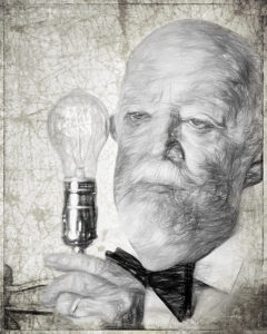 William Brown-The Inventor Drawn-BW A IOM