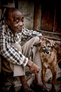 1st- Susan Silkowitz- Man With Dog- 26 Color-A
