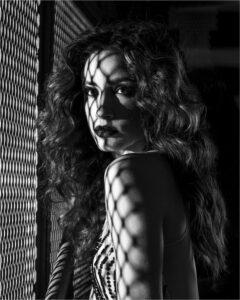 Lorraine Piskin-Lady In The Subway-B&W A IoY