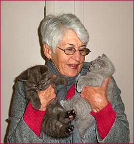 Patricia With Kittens