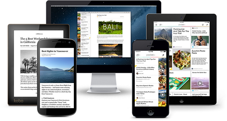 View content from any device with Pocket