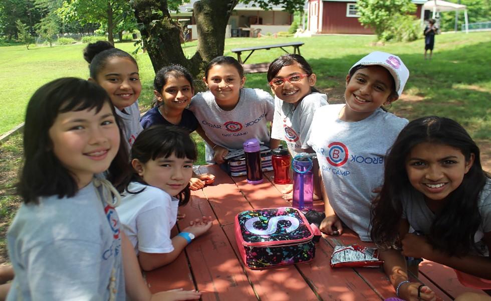 Cedarbrook Day Camp girls lunch