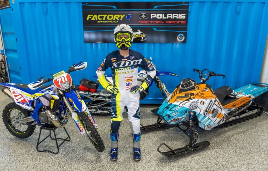 48 time World Snowmobile Hill Climb Champion Keith Curtis Joins FactoryONE Sherco