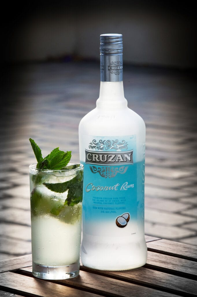Cruzan Rum with cocktail
