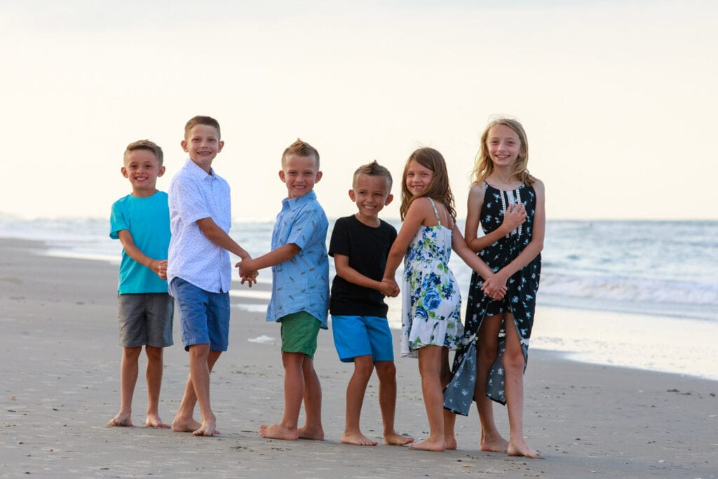 Cousins on the beach, Outer Banks NC
