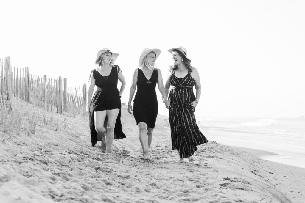 Best friends beach walk Duck NC