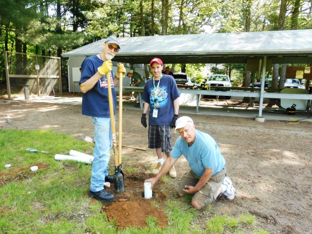 Ed, Scott & Joe installing new portable target tubes