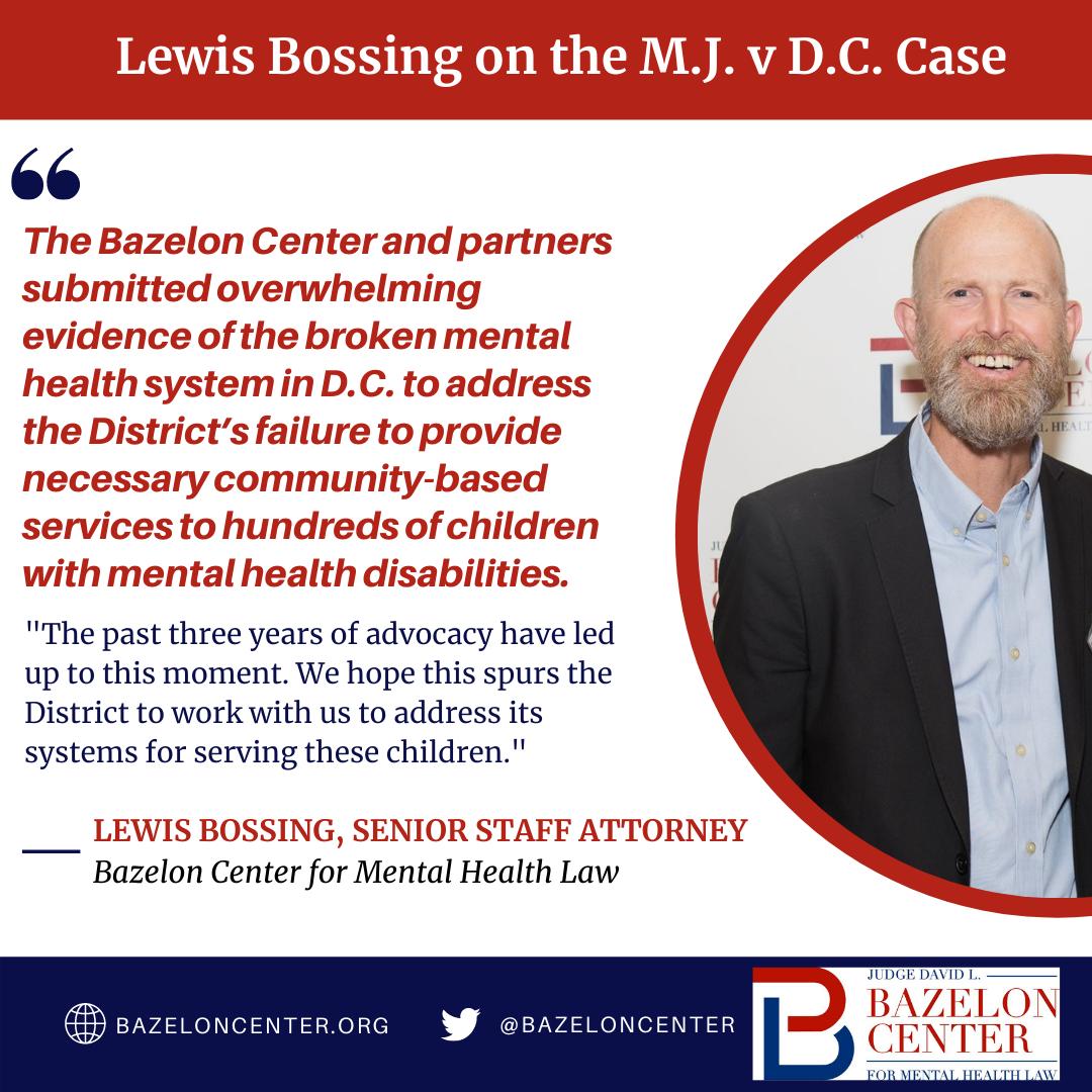 D.C. is Failing its Children: The Bazelon Center on M.J. V. D.C.