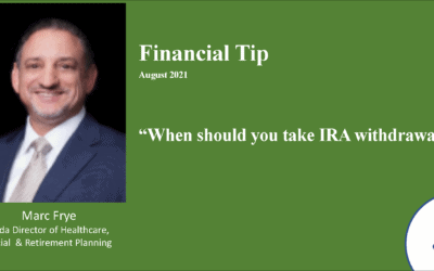 When should you take withdrawals from IRA? – 2021