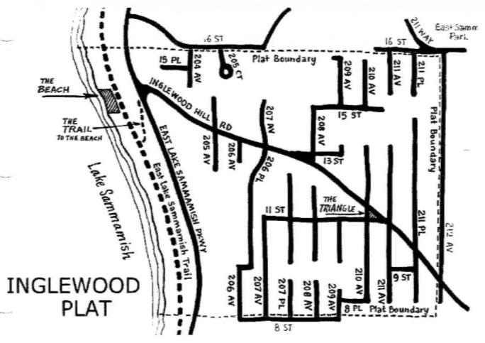 map of Inglewood Plat