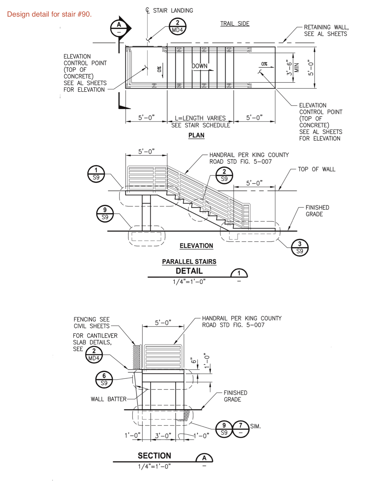 design detail for stairs