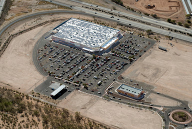 Arial view of Costco Wholesale