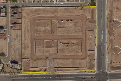 Arial shot of a vacant lot in Chandler Arizona