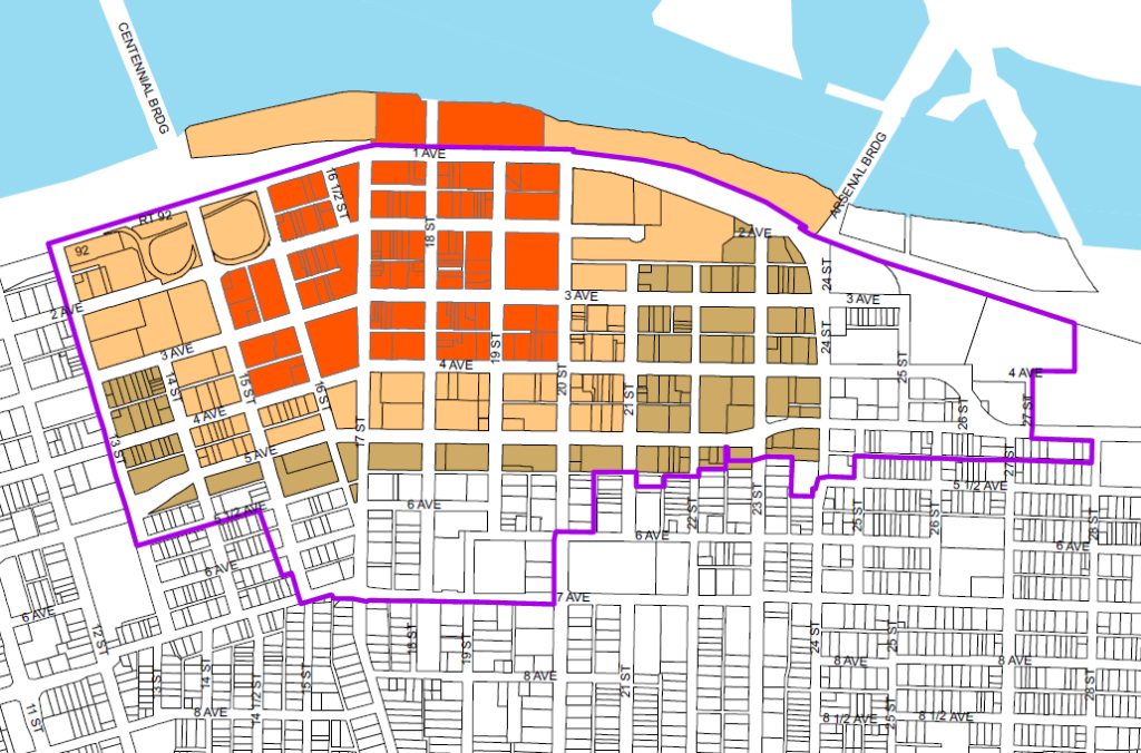 Downtown Rock Island map