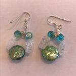 SOLD - (Set) Crystals & Pearls earrings
