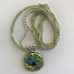 """#14890 Glass, beads, on SS chain (18"""")"""