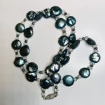 SOLD - Crystals & Pearls necklace