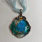 """#14874 Glass & Wire on Ribbon (2""""sq / 19"""")"""
