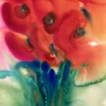 """""""Tulips from Kay"""" by Barbara Bonardi (matted archival giclee print from original acrylic painting) 2019"""