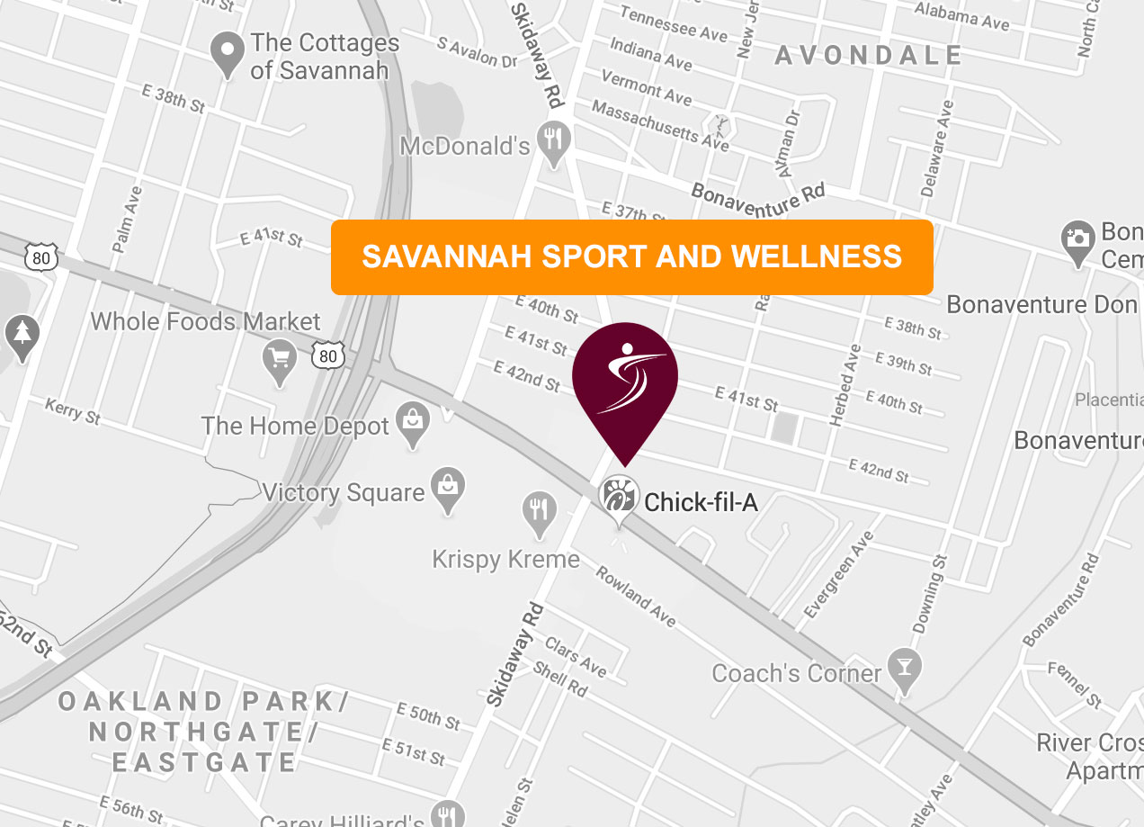 Savannah Sport and Wellness Map and Location