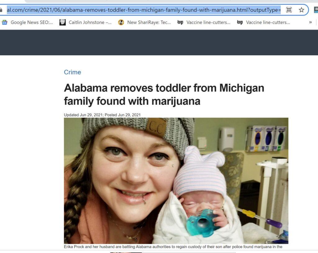 Kidnapping Babies for Marijuna