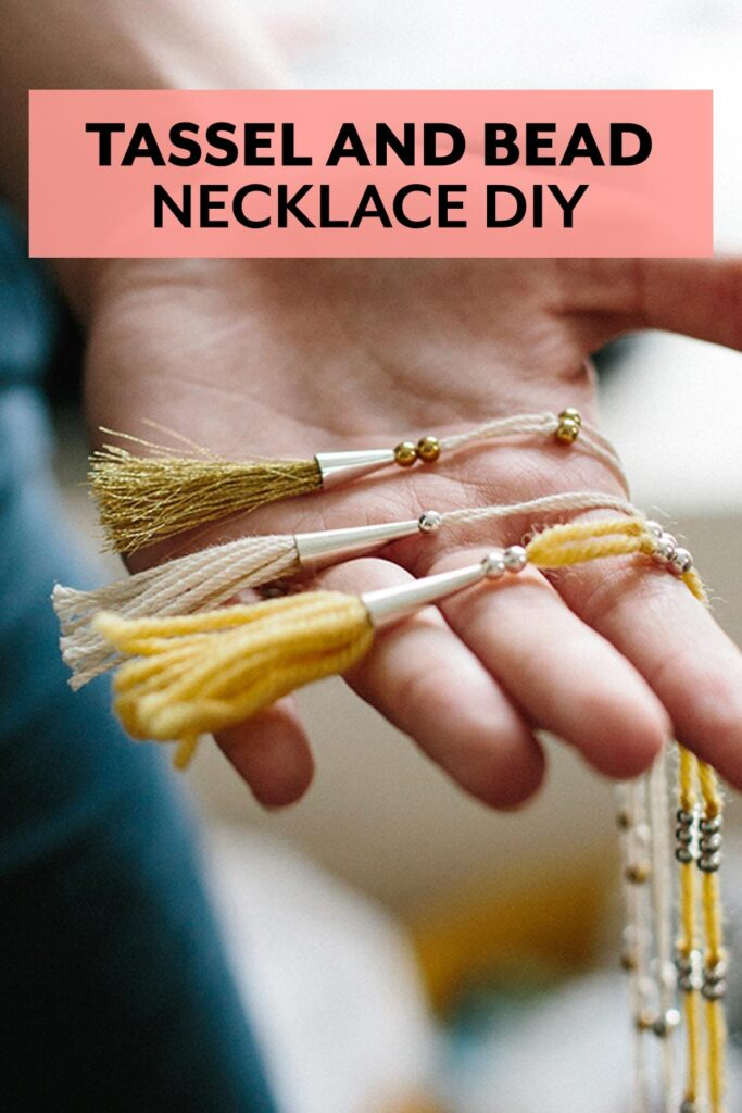 Make a beautiful beaded tassel necklace with this free DIY tutorial from Say Yes